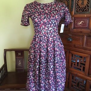 Lularoe Amelia dress in unique botanical print!